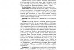 IPPS 2020 Konferans'ında Fizyoterapi ve Rehabilitasyon Bölümü Bildirisi Yayınlanmıştır