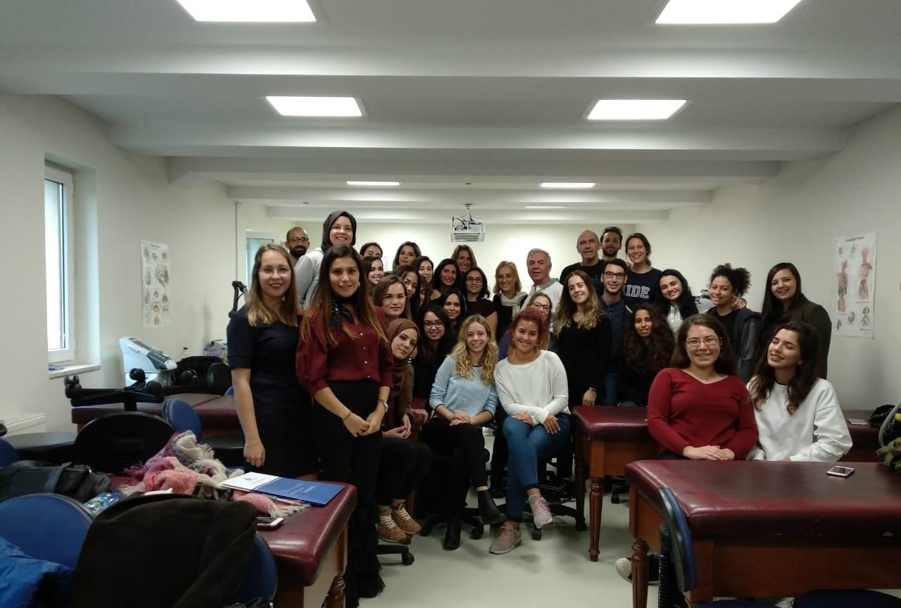 """Erasmus Plus Bilateral Anlaşmaları kapsamında """"Introduction to Proprioceptive Neuromuscular Facilitation"""" kursu Fizyoterapi ve Rehabilitasyon Bölümü'nde gerçekleşti!"""